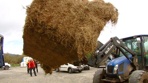 Hay has been arriving by the truckload into the country following a severe lack of fodder