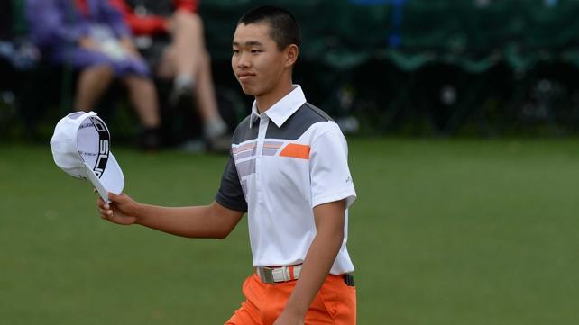 Guan Tianlang made the cut at the US Masters