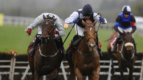 Morning Assembly (grey silks) outbattled Inish Island to score a major success for trainer Pat Fahy