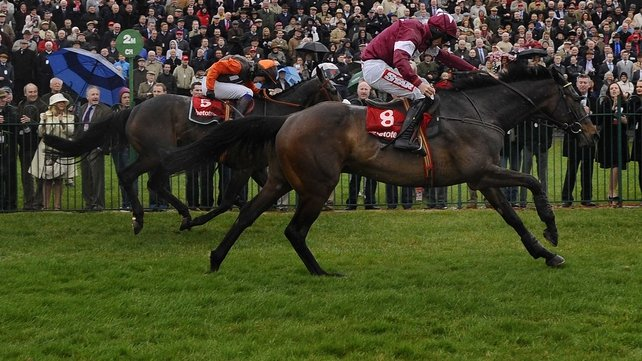 Sir Des Champs claimed the third Grade 1 win of his career when leading home Long Run on Ladies' Day at Punchestown