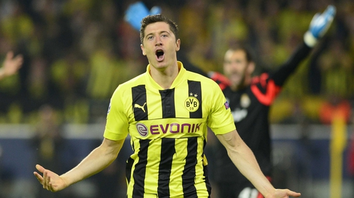 Robert Lewandowski was the star for Borussia Dortmund