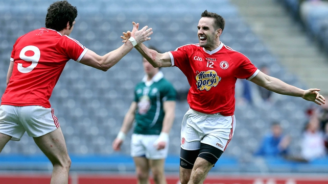 Mark Donnelly celebrates his goal against Kildare in the semi-final