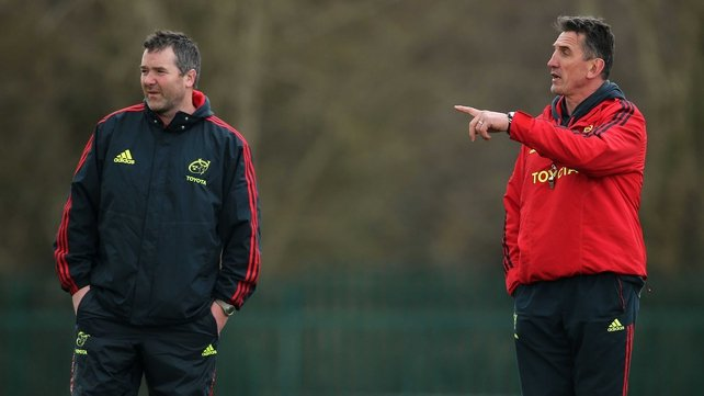 Assistant coach Anthony Foley and Rob Penney oversee training at CIT