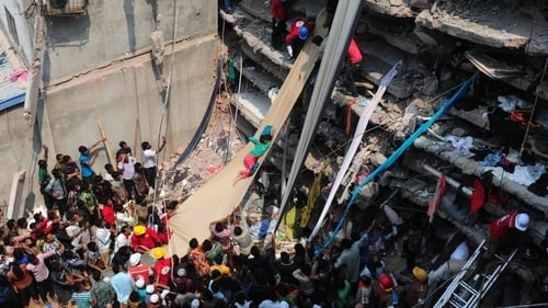 Primark occupied a floor of the eight-storey building in Bangladesh