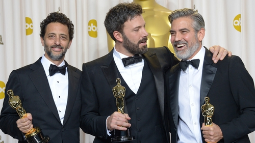 Grant Heslov and George Clooney with Ben Affleck