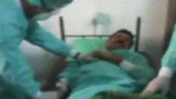 Hospital footage of alleged victims of sarins attack