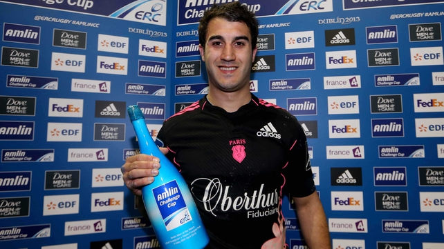 Jerome Porical kicked Stade Francais to victory and grabbed the man of the match bubbly as the Parisian side qualified for next month's Dublin final