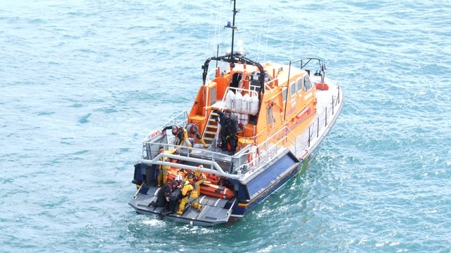 The divers were rescued by the Kilmore Quay lifeboat (Pic: Peter Leonard, Irish Coast Guard)