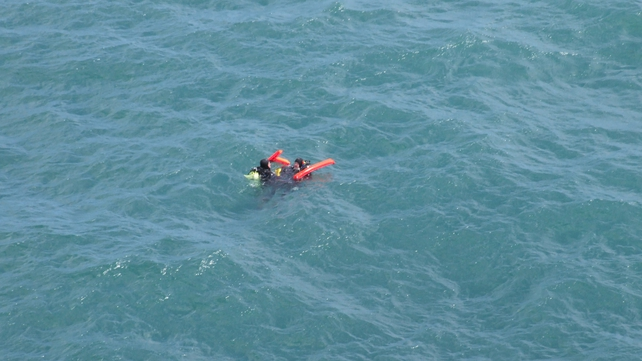 At least one of the three men was an instructor (Pic: Peter Leonard, Irish Coast Guard)