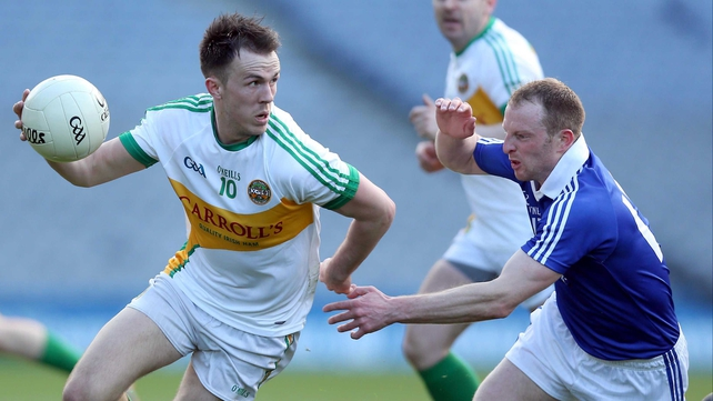 Graham Guilfoyle and Lorcan O'Dwyer in action during the Division 4 decider
