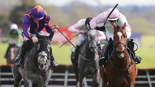 Diakali (left) got the better of the battle at Punchestown but the form was reversed at Auteuil
