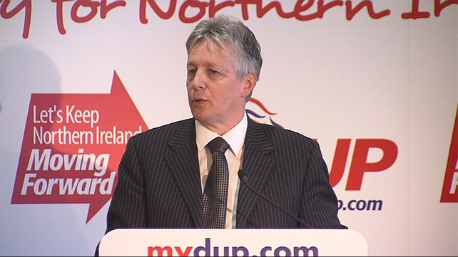 DUP leader Peter Robinson was addressing the party's spring conference in Enniskillen
