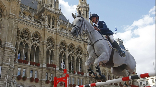 Bertram Allen, seen here riding Molly Malone V at a show in Vienna, September 2012, is a rising star of show jumping