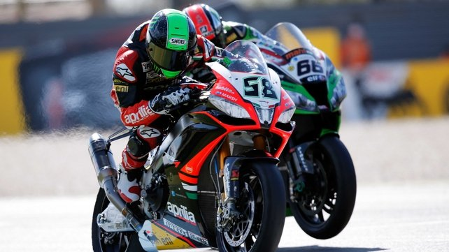 Eugene Laverty was pipped to the pole by Tom Sykes