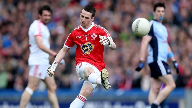 Niall Morgan in action in the Allianz League Division 1 final against Dublin
