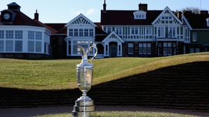 The famous Claret Jug at the Muirfield links