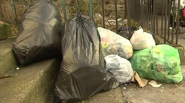 Private waste companies can ignore untagged refuse bags but the council is required to collect them