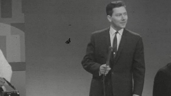 Gay Byrne presenting 'The Late Late Show' in the 1960s.