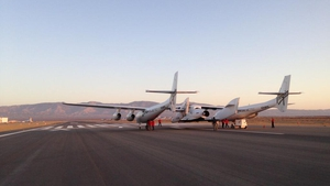 SpaceShipTwo prepares for its first powered flight in the Mojave Desert (Pic: @virgingalactic)