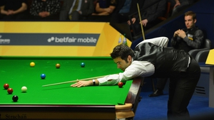 Ronnie O'Sullivan is into the last eight at the Crucible