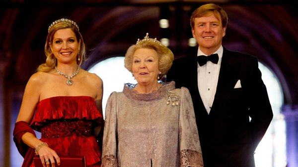 Maxima, Beatrix and Willem-Alexander of the Netherlands