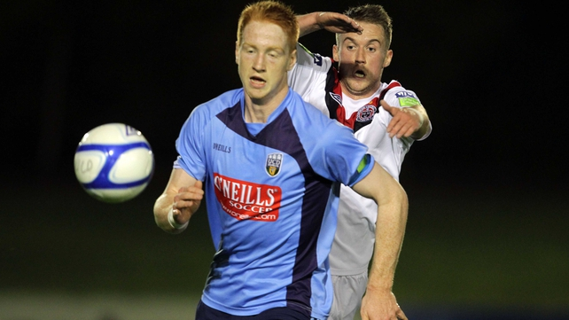 UCD's Hugh Douglas forms part of the defensive unit