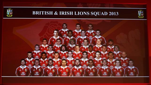 The 37 British and Irish Lions squad
