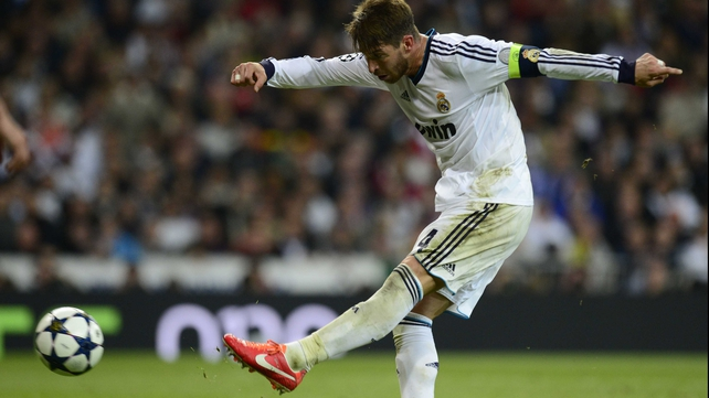 Sergio Ramos scored Real Madrid's second goal in the 88th minute at the Bernabeu as the home side went close to achieving a remarkable late comeback