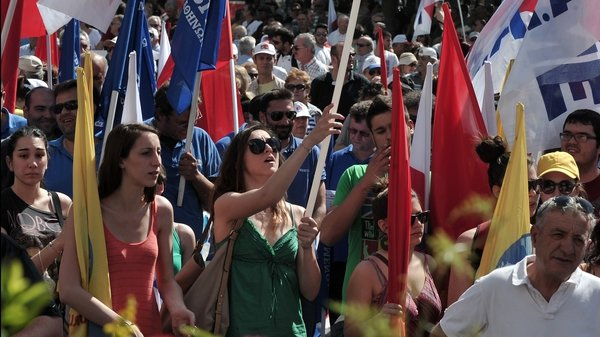 Greece's 24-hour walkout was called by its two major public and private sector unions