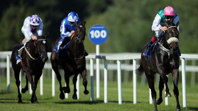 Big Break (right) will go better at the Curragh with a bit of give in the ground according to trainer Dermot Weld