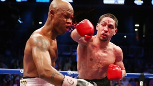 Danny Garcia draws blood from Zab Judah on his way to victory in the WBA Super and WBC Super Lightweight title fight in Brooklyn