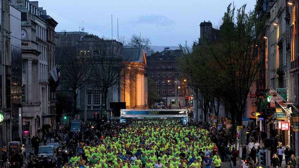 Over 7,000 runners took to the traffic-less streets of Dublin for the Samsung Run Dublin