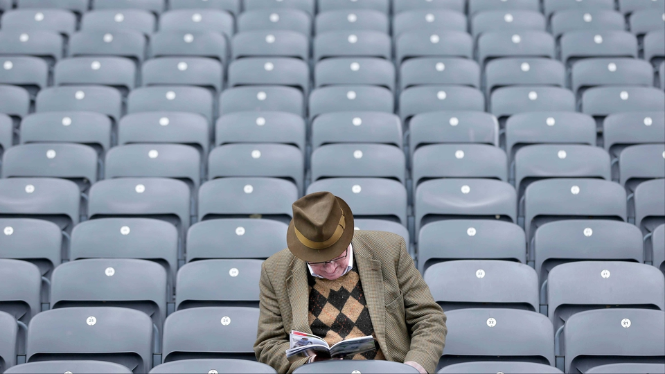 A lone fan ahead of the Derry and Westmeath Allianz Football League Division 2 Final at Croke Park
