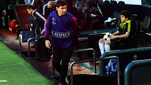 Lionel Messi is sidelined for Barcelona's clash with Celtic in the Champions League