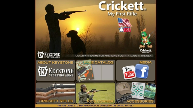 The Crickett company makes rifles for children