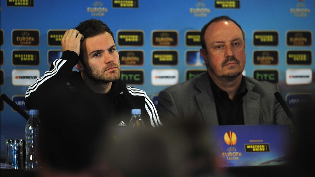 Juan Mata and Rafael Benitez have deflected talk over Jose Mourinho's possible return to Stamford Bridge