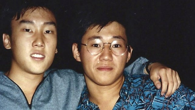 Kenneth Bae (R) pictured in 1988