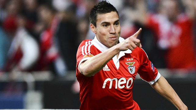 Benfica's Argentinian forward Nicolas Gaitan opened the scoring after nine minutes