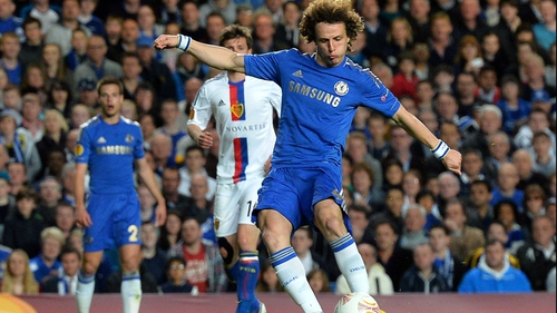 Chelsea's Brazilian defender David Luiz scored a stunning third goal for the Blues