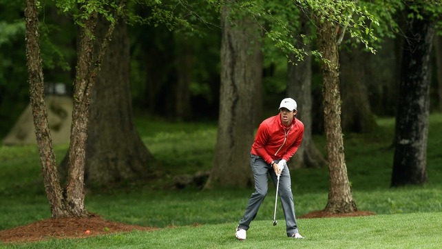 Rory McIlroy shot a five under 67 at Quail Hollow