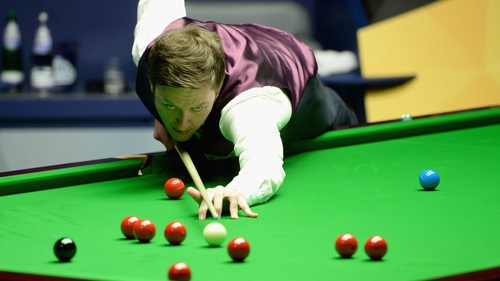 Ricky Walden is in charge in his semi-final with Barry Hawkins