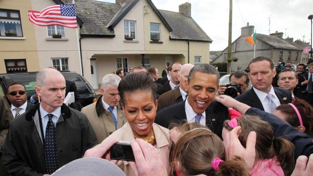 The Obamas visited Moneygall during their visit to Ireland in May 2011