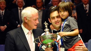 Barry Hearn with Ronnie O'Sullivan following the latter's victory in the 2012 World Championship final