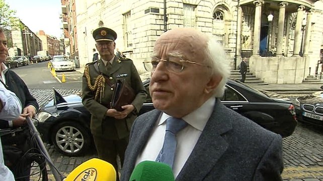 President Michael D Higgins said his remarks were right, proper and constitutional