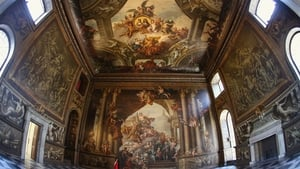 A woman admires the Old Royal Naval College's Painted Hall in Greenwich following its first restoration in 50 years
