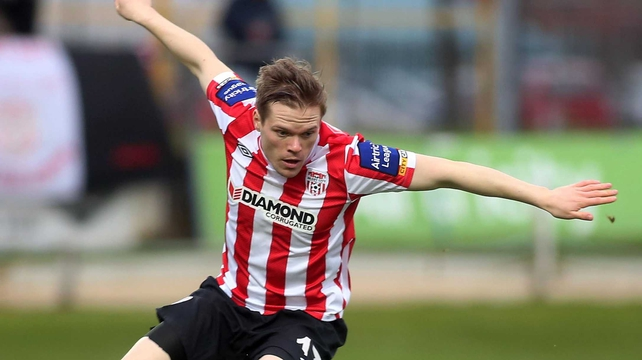 Derry move top of the league courtesy of their win and Shamrock Rovers' late goal against Sligo