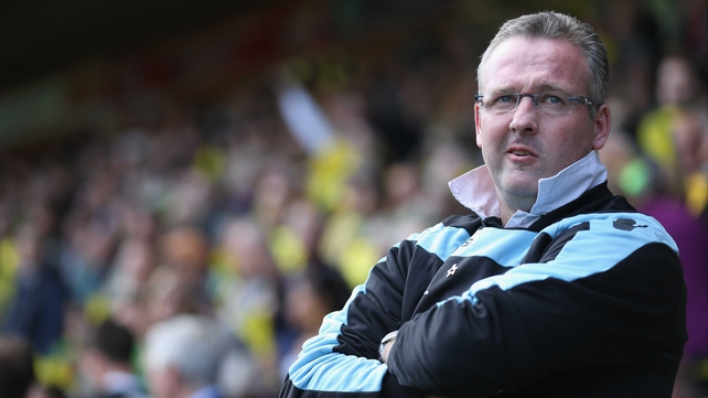 Aston Villa manager Paul Lambert ...