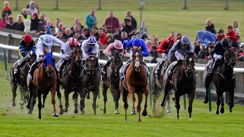 Could Dawn Approach (white face) emulate his sire, New Approach, by winning the Epsom Derby?