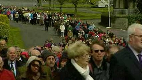 The procession took place as part of a national prayer vigil for mothers and the unborn