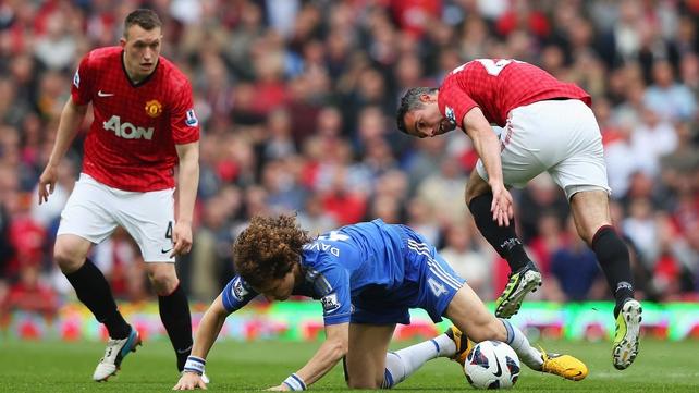 Robin van Persie challenges David Luiz